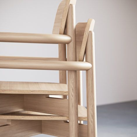 2-2. Jasny Arm Chair.Stacking Close-Up