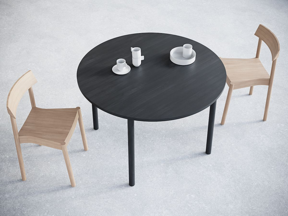 2-4. Round Table. Chairs&Objects