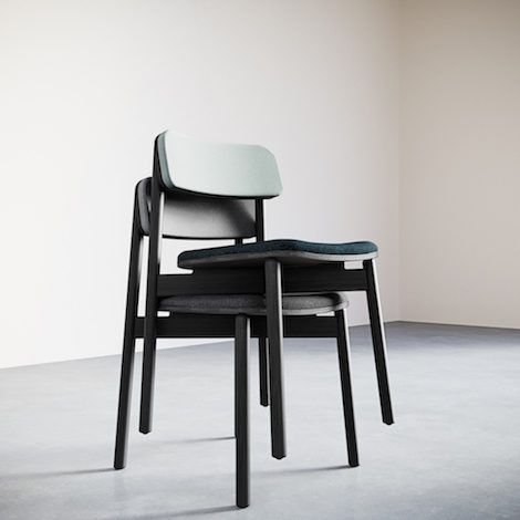 4-1.Jasny Side Chair Upholstered. Stacking - 470