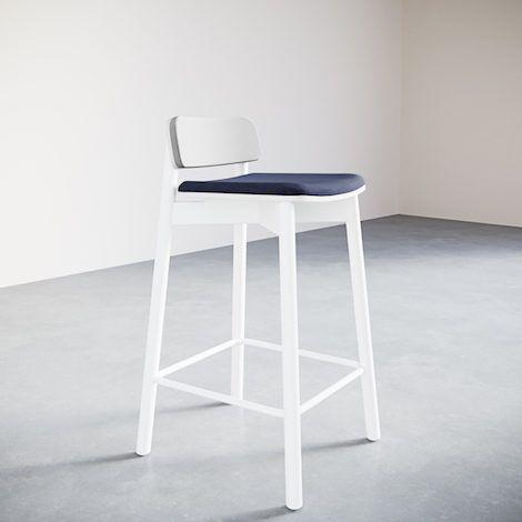 6-1.Jasny Bar Stool Upholstered. Solo - 470