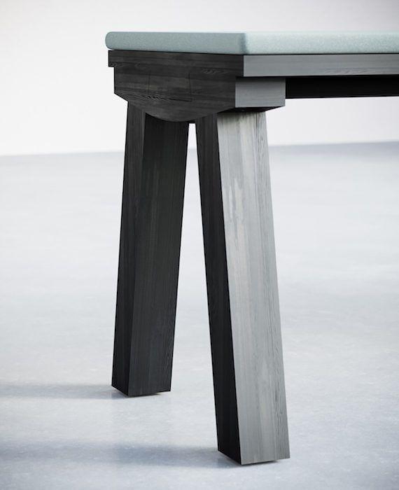 2-5.Dove Bench Upholstered. Detail