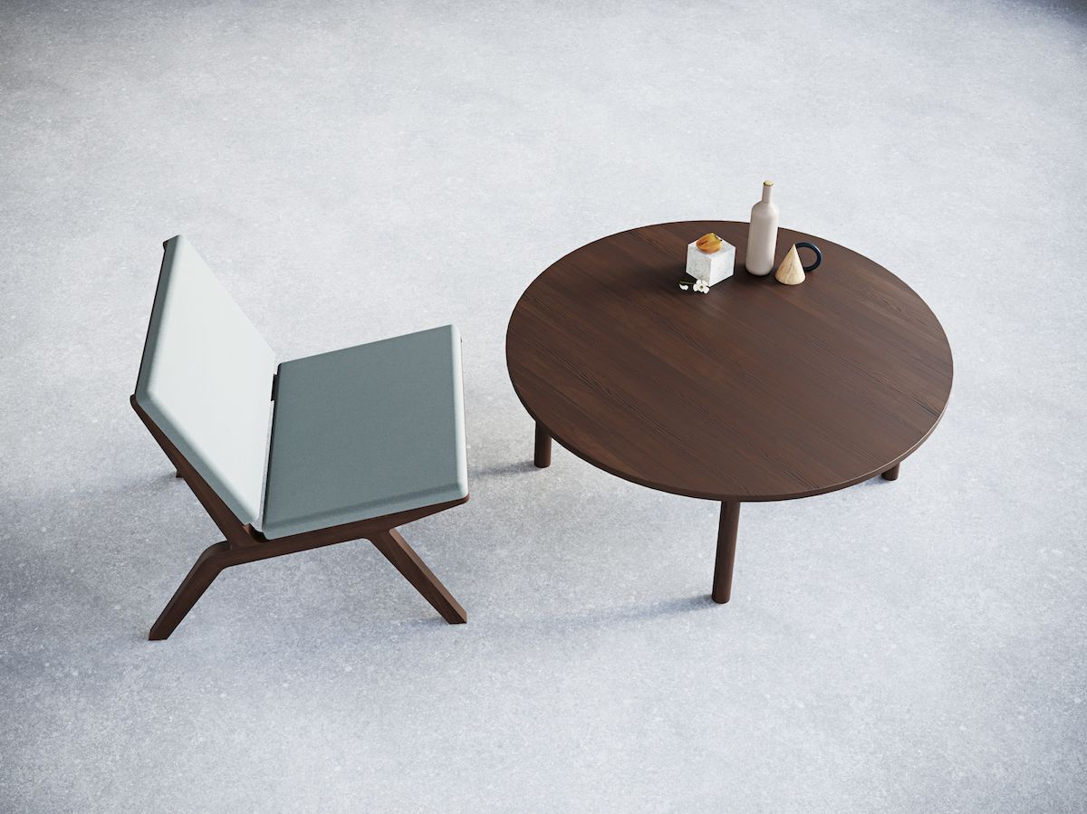 4-4. Round Coffee Table. Chairs&Objects
