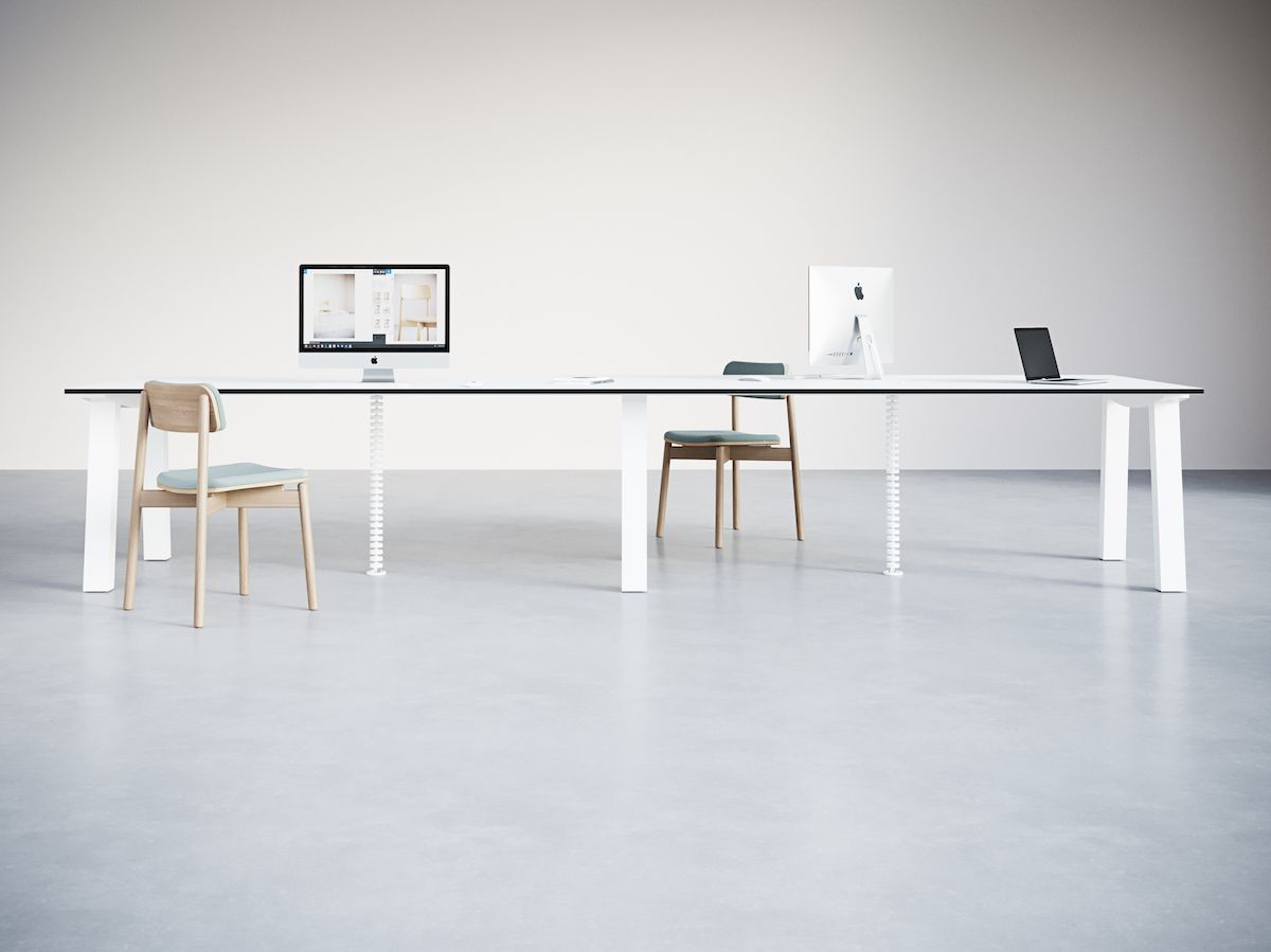 5-2.Wide Endless Dove Desk. Chairs_Objects