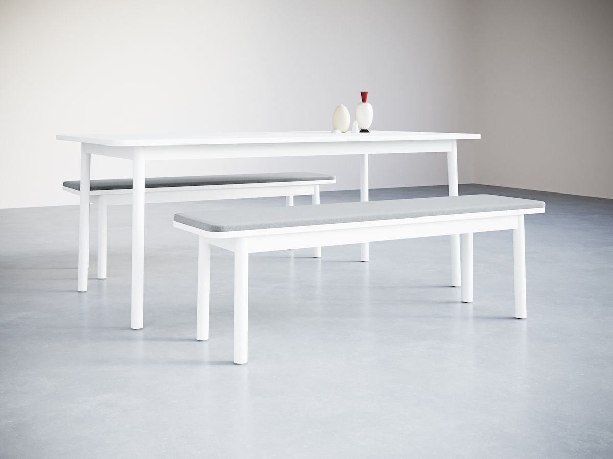 5-3.Time Bench Upholstered. Table&Objects
