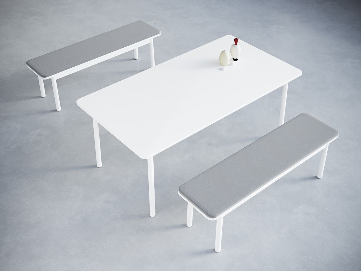 5-4.Time Bench Upholstered. Table&Objects