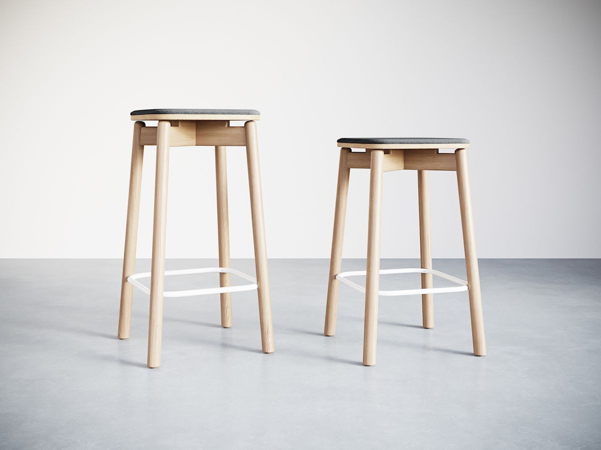 8-3.Jasny Stool 650&750H Upholstered. Lineup